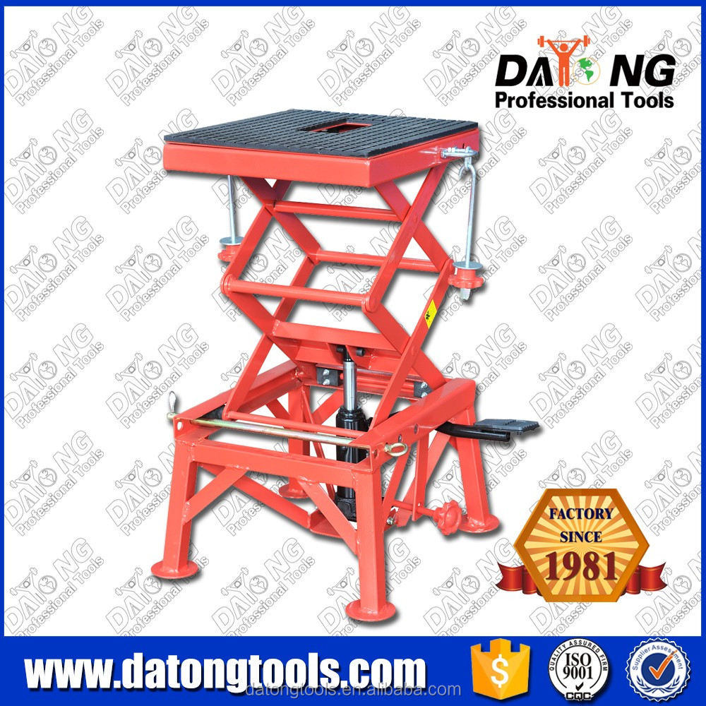 135KG Motorcycle Dirt Bike Stand Jack Lift Cart Double Scissors Lift