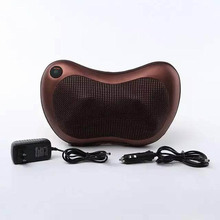 Full body head back neck rolling Kneading massager/shiatsu infrared massage pillow & cushion with heat/rechargable battery