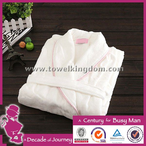 Customized high quality embroidered women cotton bathrobe