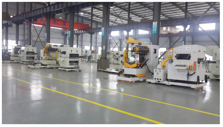 sheet metal coil automatic hydraulic decoiler straightener feeder equipment