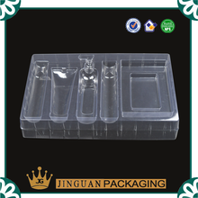 Custom clear pvc plastic vacuum forming blister tray cosmetics packaging disposable cosmetic tray