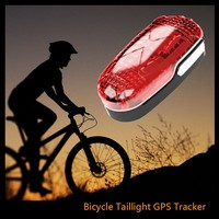 Easy to hide high quality bike taillight gps tracker low power consumption gps navigator for bicycle/motorcycle with SOS alarm