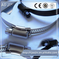 3 1/2 inch stainless pipe clamp/vehicle wheel clamp