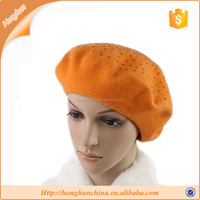 Factory wholesale custom fashion wool hat and cap
