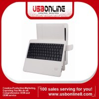 Stock for iPad 3 bluetooth 4.0 wireless keyboard with leather case