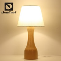 Modern vintage style wood hotel home interior table decoration lamp desk light