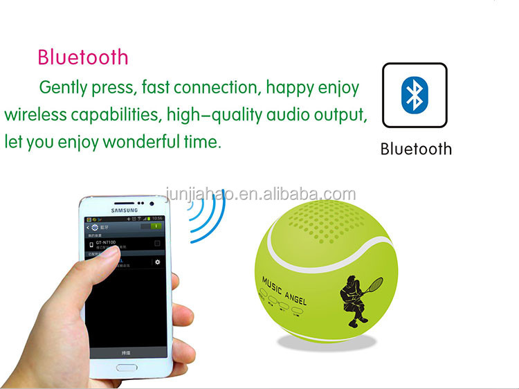 2016 New Design Wireless Bluetooth Portable Personalized Mini Tennis Ball Speaker