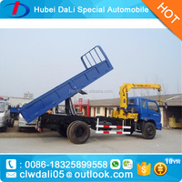 Sinotruk sinotruk dump truck mounted crane for sale
