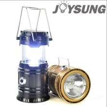 Ultra bright6 LED Portable Solar Charger Lantern Emergency Camping Lanterns Waterproof Rechargeable Light Lamp
