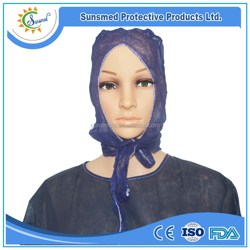 best price disposable surgical women hood Astronaut surgical head cover