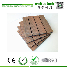 Terrace mix color capped wood plastic composite decking tile