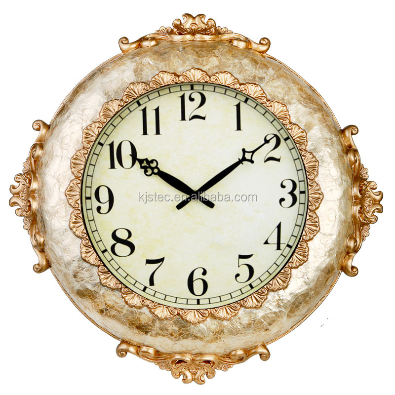 Resin + high quality soft shell plexiglass wall clock