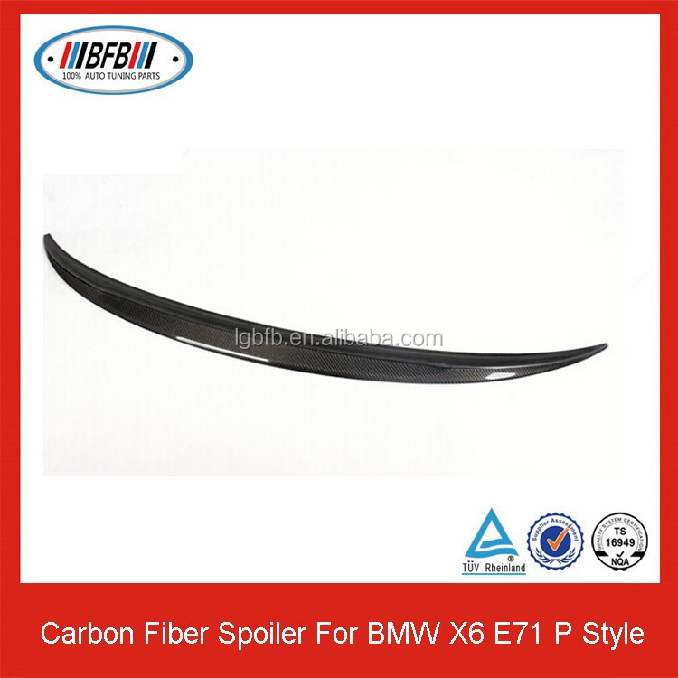 2008-2014 Carbon Fiber Trunk Spoiler For BMW X6 E71 P Style