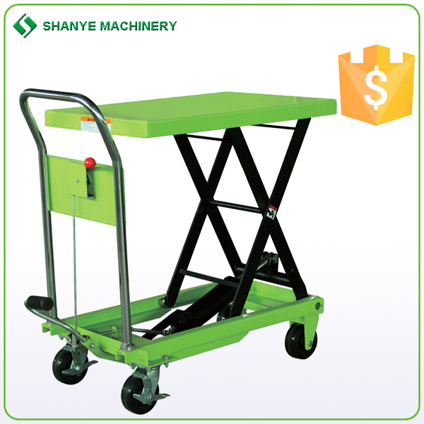 2016 hot sale mobile scissor lift table