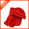 2016 Red fleece hat scarf and glove set