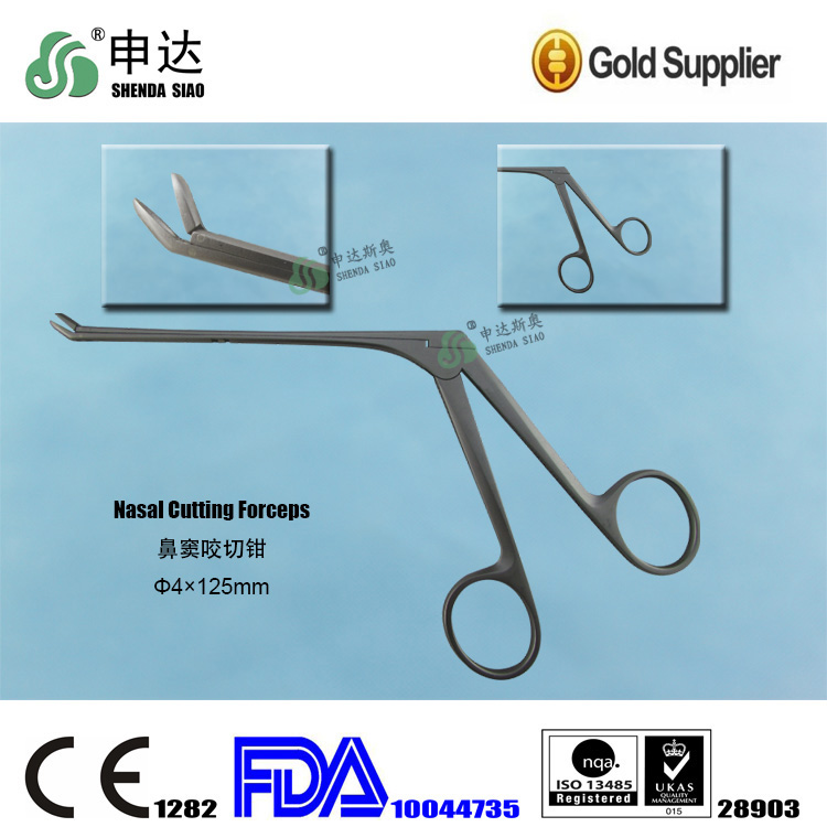China E.N.T department 0 degree Nasal Cutting Forceps