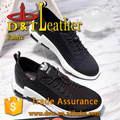 Fabric design pu synthetic leather for new shoes