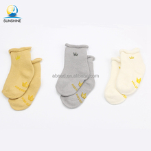 Multi-design Thick Terry Loop Cute Baby Tube Sock Kids Bulk Anti Slip Socks