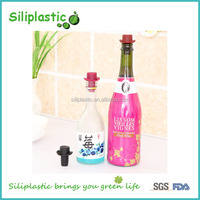 Factory price wholesale high quality hat shaped silicone wine stopper base