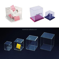 famous brands' acrylic cosmetic / bag / shoes display for box manufactuer
