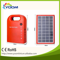 YMC-SK01 low cost mini solar home lighting system with cell phone charger