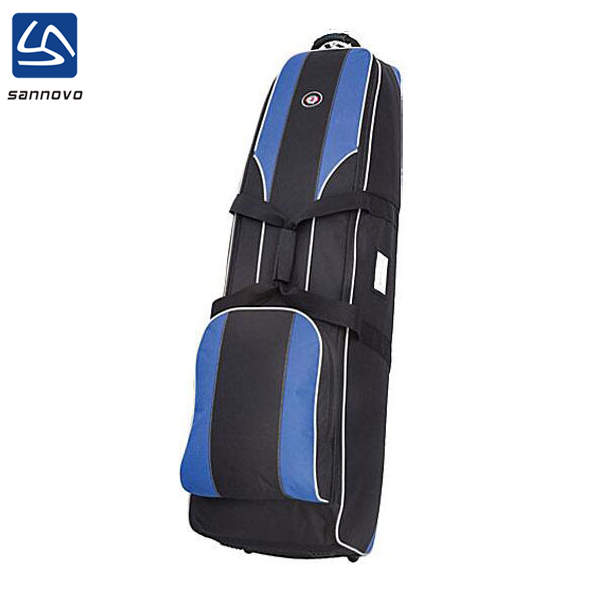 sannovo factory polyester golf travel bag,custom logo golf bag with wheels
