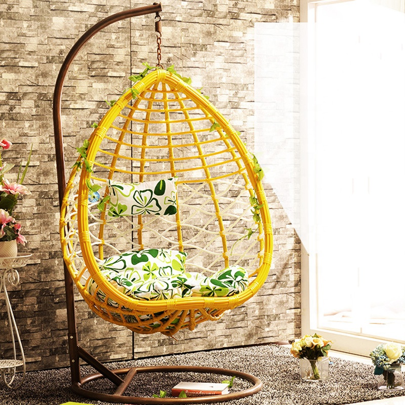 pear shape outdoor rattan swing hanging chair for rattan rocking chairs China manufacturing