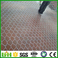 1x1x1m gabion box / black hessian cloth /11 gauge galvanized welded wire mesh gabions