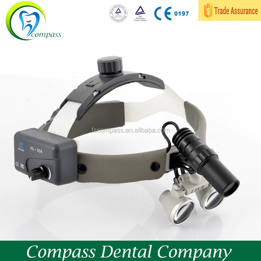 3w led ENT medical magnifying headlight with 3.5X dental loupes