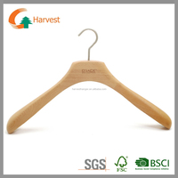 Deluxe natural color finish coat hanger with square head