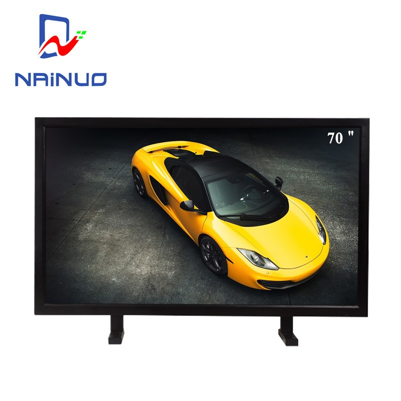 Hot sale 70 inch LED / LCD TV 1080p monitor with input lcd touch screen monitor with built in computer