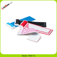 For iPad mini Folding Silicone Rubber Bluetooth Keyboard BK6113
