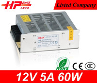 Single output type constant voltage 60w 5a 12vlots power supply unit IP67 Meanwell style variable power supplies