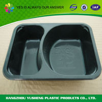 Embossing printing food use food tray compartments