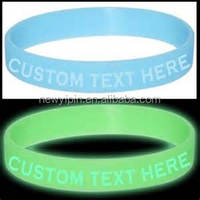 Glow in the dark custom silicone charm bangles from china