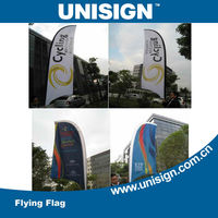 2013 hot selling double sided beach flag with different styles for your choice