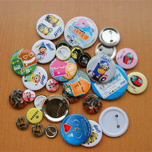 Wholesale full color round pin metal button badge decorate garments types