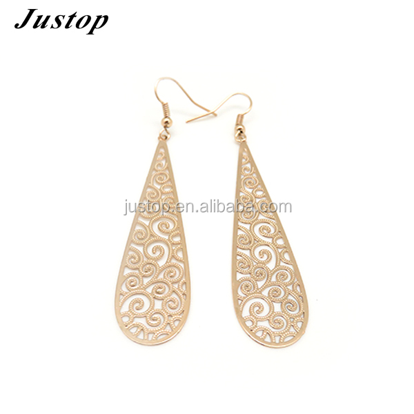 Wholesale shiny old fashion earrings with holl design for women