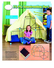 Indoor Construction play Fort for Discovery Kids 72pc Build & Play