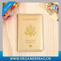 Encai Cheap USA Passport Cover Wholesale America Passport Holder Shiny Gold