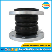 Double sphere bellows type rubber expansion joint