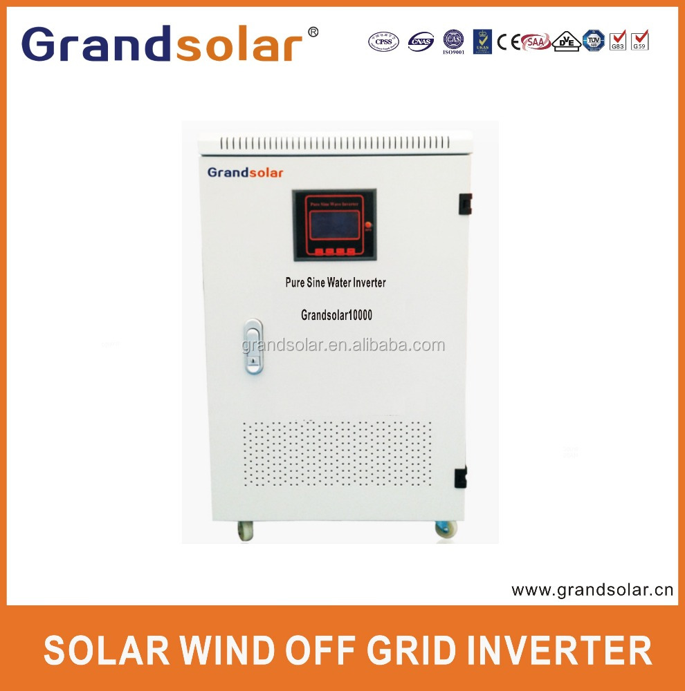 10000W 10KW DC TO AC 110 120 220 230 240 V PURE SINE WAVE SINGLE PHASE OFF GRID SOLAR POWER UPS INVERTER