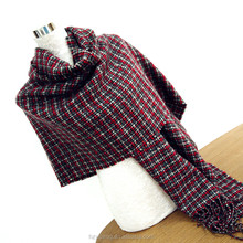 Multiway womens scarves rectangle Cashmere Wool Shawl Scarf Wrap with winding tassel