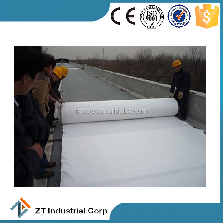 from 100g to 1000g needle punched non woven polyester geotextile