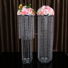 Wedding table decoration hanging fastion crystal flower stand centerpiece