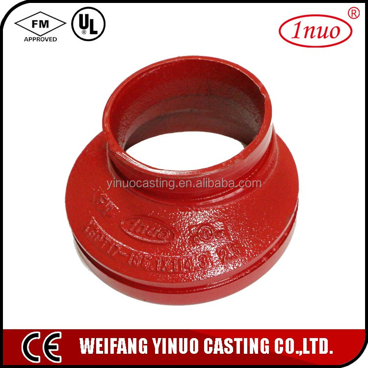 Fire fighting grooved fittings eccentric reducer