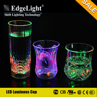 Edgelight New products innovative product clear plastic flashing led water cups for shakes