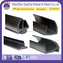 customized Rubber Edge trim Black U extrusion medium size / garage door rubber strip