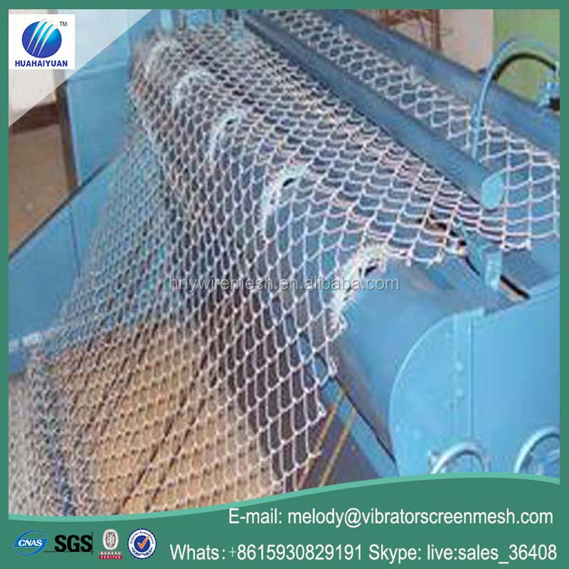 Hot Dipped Galvanized Steel Chain Link Mesh Fence Diamond Wire Mesh Animal Fencing ISO 9001