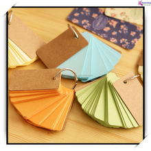 China supplier free samples supplied custom loose leaf memo pad sticky color pocket memo pad